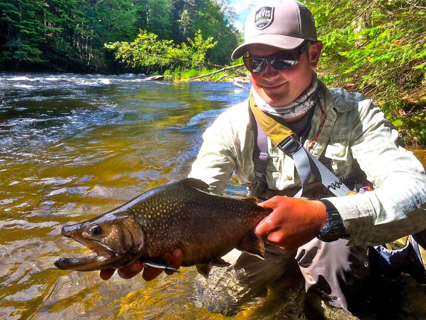 Greg Inglis with a large Brook Trout